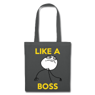 LIKE A BOSS Fuck Yea Rage Face Meme Smiley Tasche Beutel