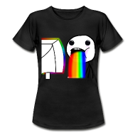 Puking Rainbows Rage Face Meme Regenbogen Kotzen T-Shirt