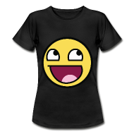 Awesome Smiley Emoticon Meme Girl T-Shirt