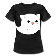 Ghost Cat Smiley T-Shirt Katze Kitty GIRLS