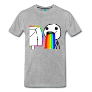 Puking Rainbows Rage Face Meme Regenbogen Kotzen T-Shirt Boys