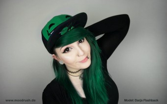 Cute Scene Girl Cap Green Hair Cannabiene