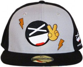 Smiley Fitted Cap - Vorderseite - Bestickt Baseball Cap M�tze Hut