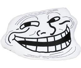 Trollface Kissen Troll Face Rage Guy Coolface Meme Plush