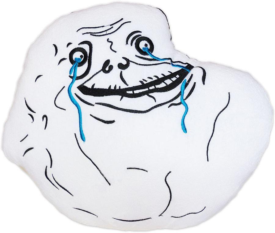 moodrush - Forever Alone Kissen Rage Face Meme Smiley