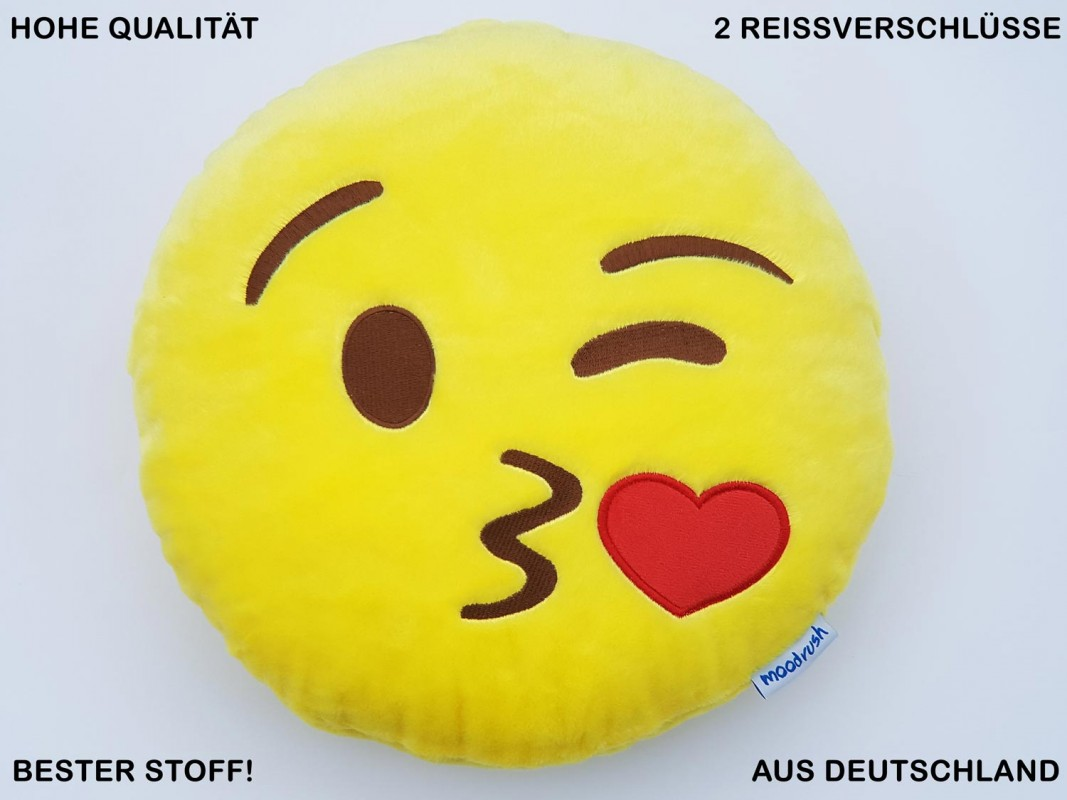 Kuss Smiley Kissen Kiss Chat Mobile Messenger Plüsch
