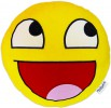 XXL Awesome Smiley Kissen 60cm Riesiges Pl�sch Emoticon Kissen gelb