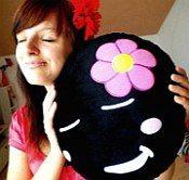 moodrush luna darko kitthey smiley kissen moon cat shop. Black Bedroom Furniture Sets. Home Design Ideas