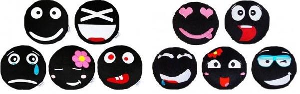 Werbekissen Plüsch Smiley Kissen Sitzkissen Merchandise